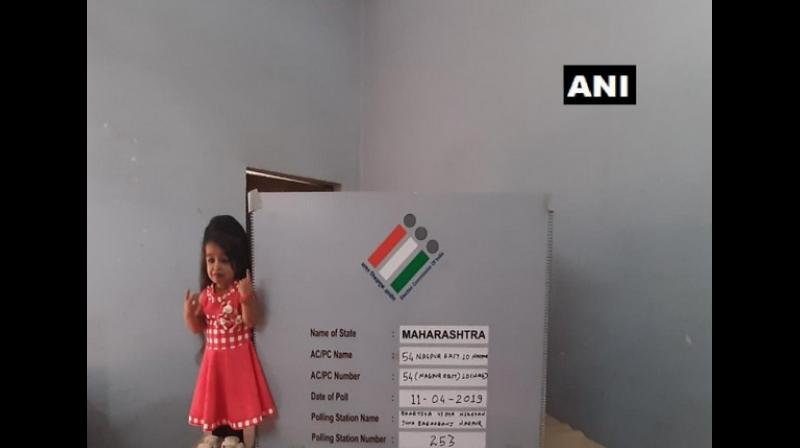 The 25-year old woman who is just 2 feet and 1 inch, turned up to her polling station and exercised her franchise. (Photo: ANI)