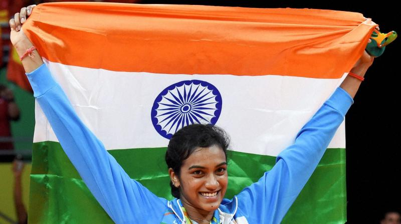 PV Sindhu became the first Indian woman shuttler to win an Olympic silver medal following her brilliant show at the Rio 2016. (Photo: PTI)