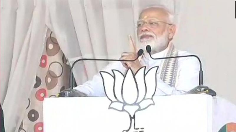 Addressing an election rally at Parli in Maharashtra's Beed district, he said the next week's state Assembly polls were a battle between BJP's