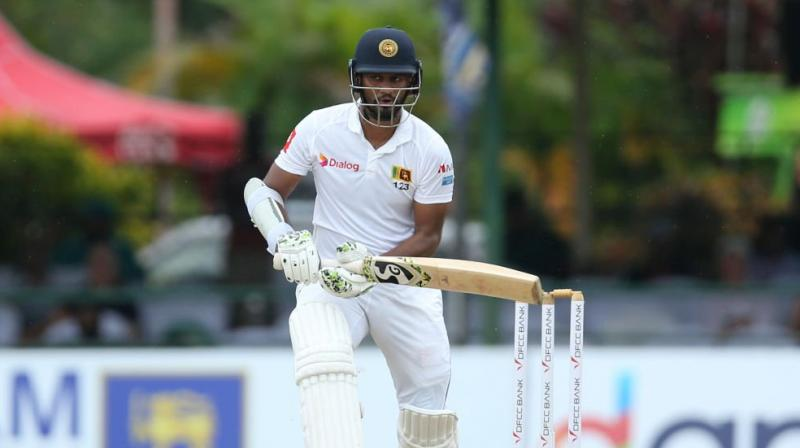 Skipper Dimuth Karunaratne helped Sri Lanka to 85 for two at stumps on a rain-hit day one of the second Test against New Zealand in Colombo on Thursday. (Photo: ICC/Twitter)