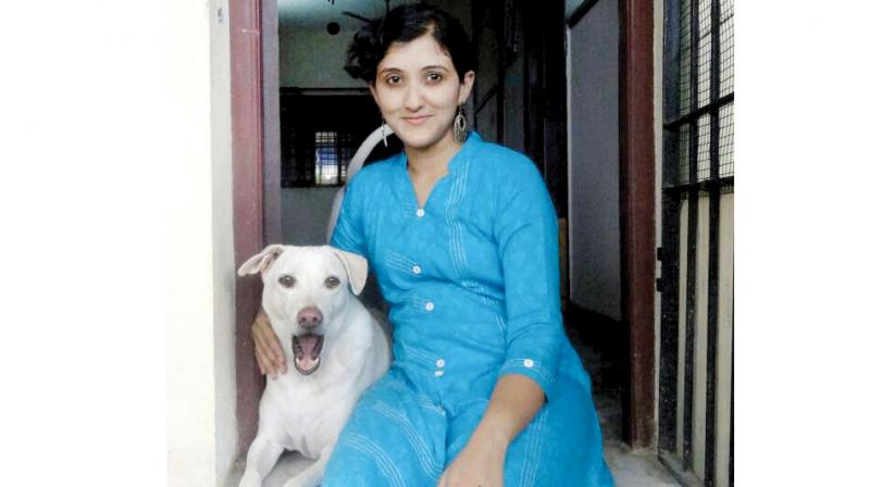 Sanjuktha, who has a PhD in molecular myology, practices distant healing on animals.