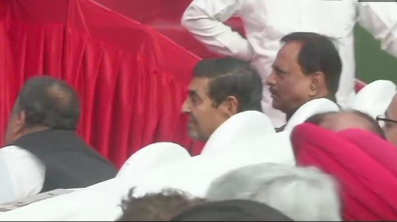 As Jagdish Tytler was seen in the front rows, Akali Dal accused Congress of having 'no respect for sentiments of Sikhs'. (Photo: Twitter | ANI)