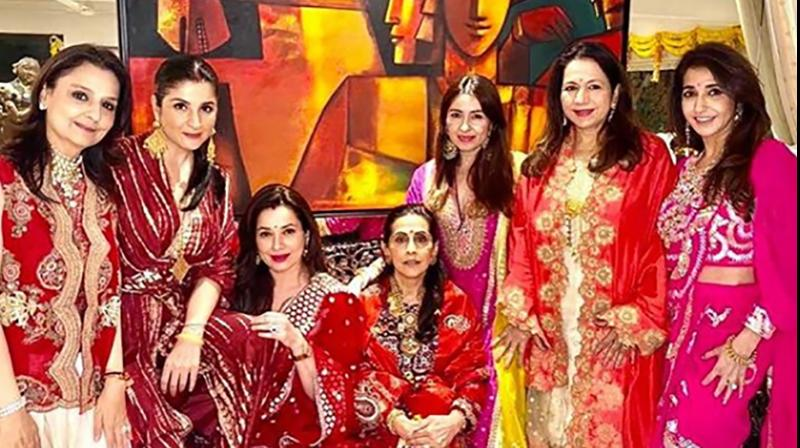 Maheep Sandhu, Neelam Kothari Soni, Sunita Kapoor, Jaanvi Dhawan, Laali Dhawan, Krishka Lulla