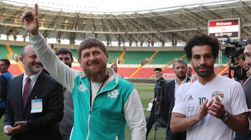 Kadyrov  himself went to the Egyptian team hotel to pick up Salah and deliver him for training at the football stadium before 8,000 cheering fans. (Photo: AFP)