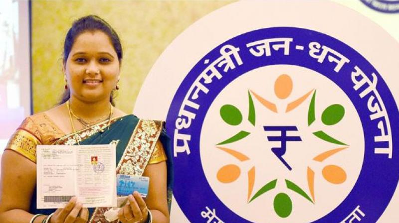 The average balance of Jan Dhan account has grown from Rs 1700 in 2016 to Rs 2500 in 2018.  (Photo: PTI)