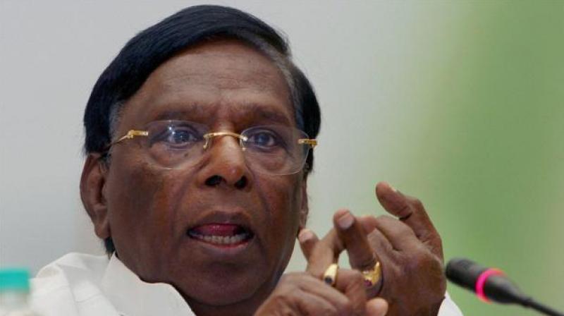 Puducherry chief minister V. Narayanasamy (Photo: PTI)