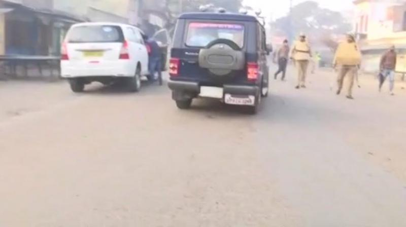 In Kasganj, where the situation is tense but under control, clashes between two communities had claimed one life. (Photo: ANI/Twitter)