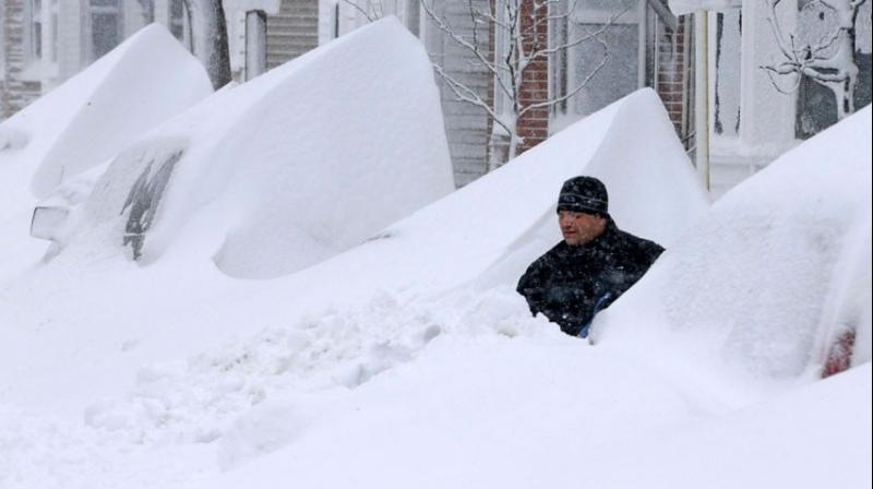 The massive storm which dumped 10 inches (25 centimeters) of snow on some areas in the Midwest. (Photo:File)