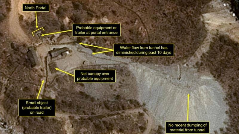 North Korea invited a handful of media from a number of countries to witness the dismantling of the Punggye-ri testing site to uphold its pledge to discontinue nuclear tests. (Photo: AFP)
