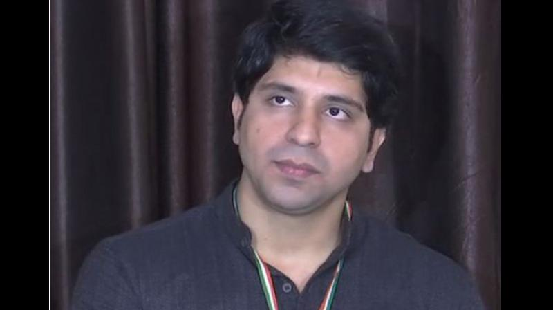 Poonwala said that Congress Party had 'no place for Shehzad [himself], but for shehzada [Rahul Gandhi].'(Photo: ANI)