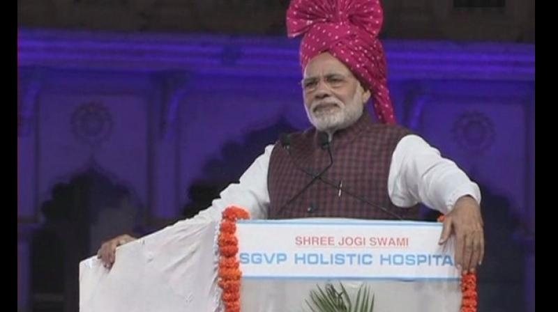 Modi said that Bharuch and Kutch are districts with significant Muslim populations which developed rapidly under the BJP tenure in Gujarat and the names of these two districts have figured prominently. (Photo: ANI | Twitter)