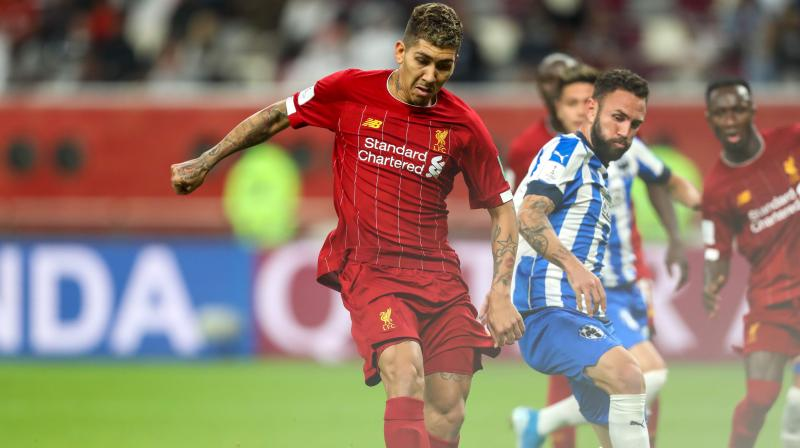 Substitute Roberto Firmino grabbed a stoppage-time winner as Liverpool beat Mexico's Monterrey 2-1 on Wednesday to reach the Club World Cup final, where they will play Brazil's Flamengo. (Photo:AFP)