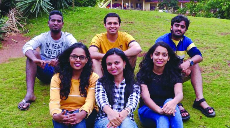 Sriram P.S. with his buddies