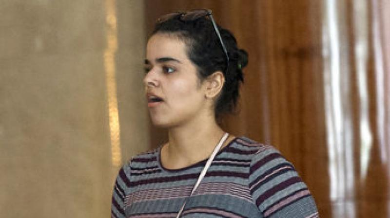 Rahaf Mohammed Alqunun fled her family while visiting Kuwait and flew to Bangkok, where she barricaded herself in an airport hotel to avoid deportation and grabbed global attention by mounting a social media campaign for asylum. (Photo: AP)