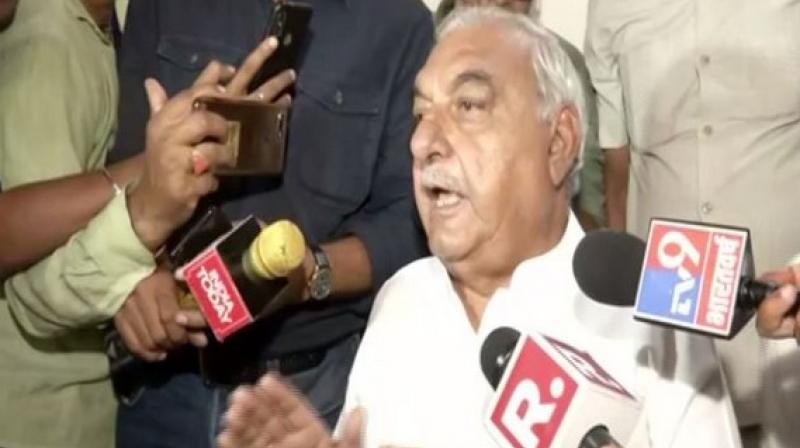 Senior Congress leader and former Haryana CM Bhupinder Singh Hooda. (Photo: ANI)