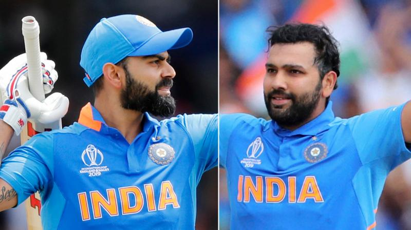 India skipper Virat Kohli and his limited overs deputy Rohit Sharma will end 2019 as number one and two in the ICC ODI rankings for batsmen, having maintained their places following a fine showing against the West Indies. (Photo:AP/PTI)
