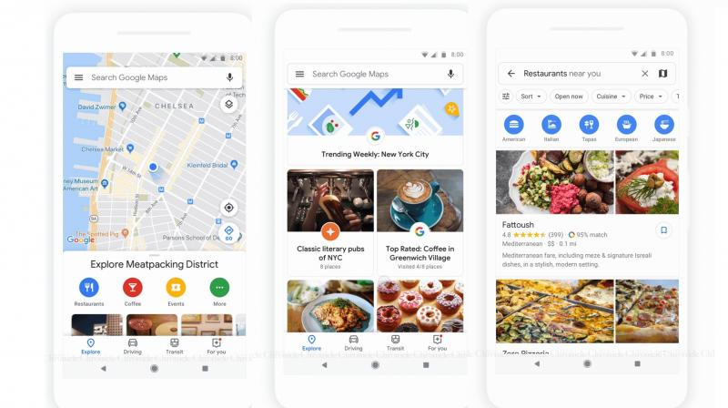 Google Maps app redesigned, gets new 'Explore' and 'For You ... on bing explore, flickr explore, google plus explore,