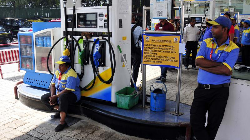 Oil sector experts say that retail price of both petrol and diesel may equate around Rs 70 a litre before the end of the year. (Photo: Bunny smith)