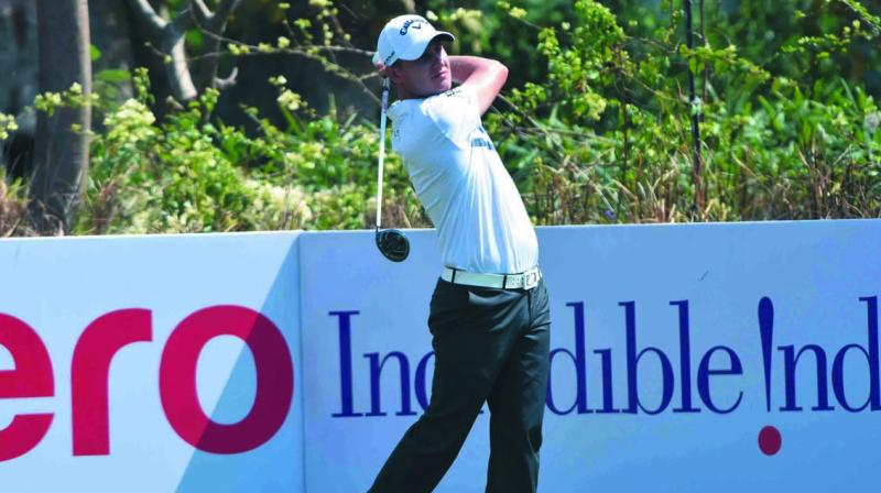 Argentina's Emiliano Grillo in action on day one of the Hero Indian Open.