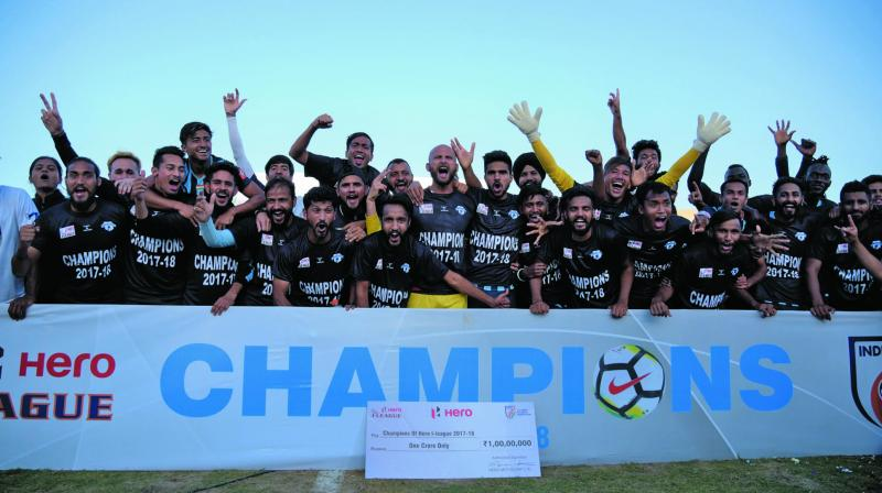 Minerva Punjab defeated Churchill Bros 1-0 in their final league match to lift the trophy.
