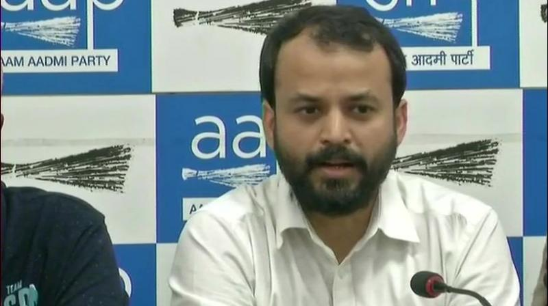 According to sources in the party, Khetan had sent his resignation to AAP chief Arvind Kejriwal on August 15. (Photo: ANI | Twitter)