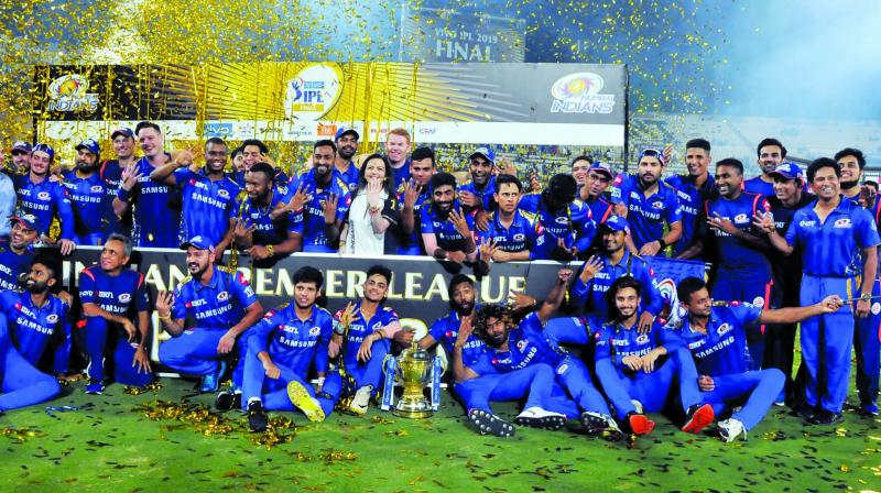 As the fans got stuck watching the IPL final, a video clip of it went viral on various social media sites. (Photo: P. Surendra)