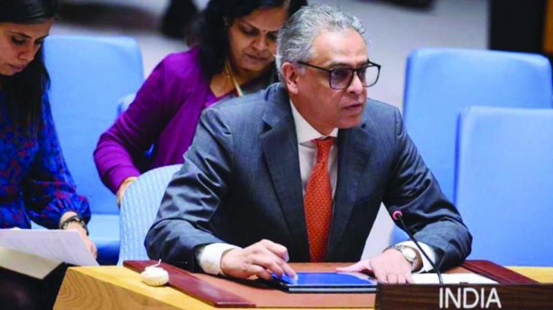 India's permanent representative to the United Nations Syed Akbaruddin addresses the world body in New York.