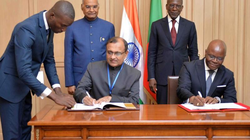 Two MoUs were also signed, including an MoU in the field of export credit and investment insurance, and another on the e-VBAB network project, according to the Ministry of External Affairs. (Photo: ANI)