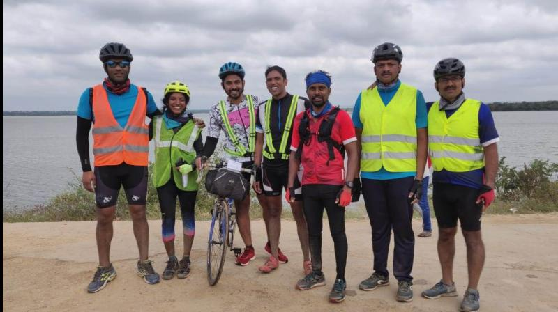 Left to right — Mohit Bathineni, Chaitra Nataraj, Anand Lakkamraju, Sai Harsha, Dr. Srikanth Pilli, Dr. Sridhar and Ravinder Reddy Vanga