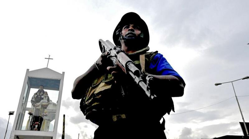 Search operations are currently underway at the Colombo Harbour for the potential threat. (Photo: AFP)