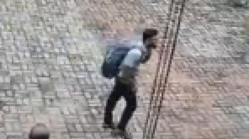 Two days after the deadly Sri Lankan blasts, a video has been released of suspected suicide bomber.  (Photo: Screengrab)