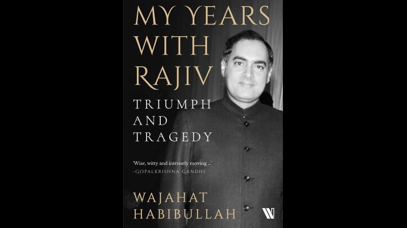 Cover of Wajahat Habibullah's recent book 'My Years with Rajiv'. (Twitter/@WestlandBooks)
