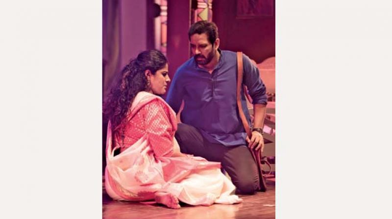 Nishtha Paliwal and Anup Soni during the play