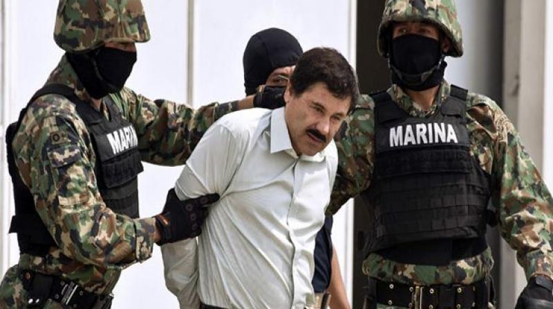 The 61-year-old former boss of the notorious Sinaloa cartel -- famed for his brazen escapes from Mexican prisons -- faces life in prison. (Photo:AFP)