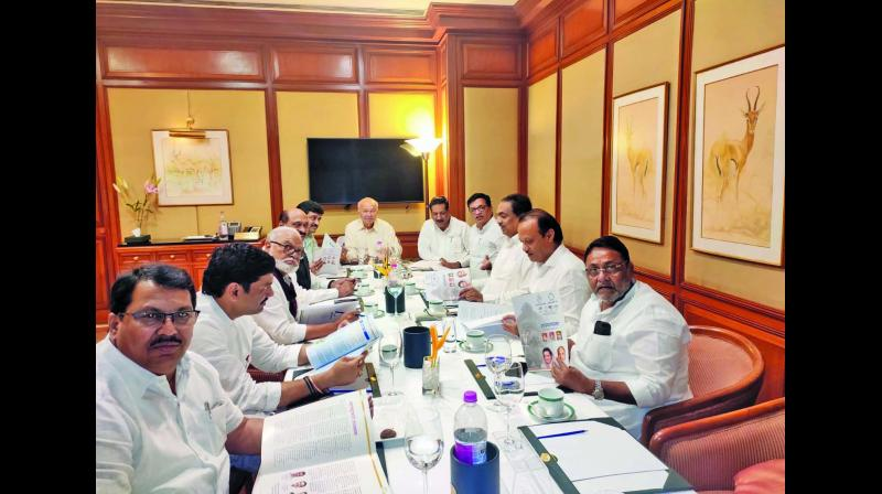 NCP leaders in a meeting on Wednesday.