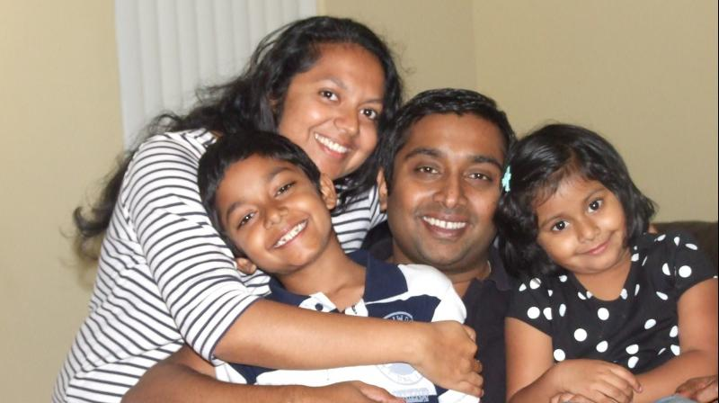 Sandeep Thottapilly, his wife Soumya, along with their two kids were on a road trip in a maroon Honda Pilot from Portland, Oregon to San Jose in Southern California. (Photo: Facebook)