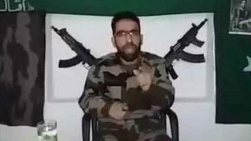 File image of Riyaz Naikoo from a video.