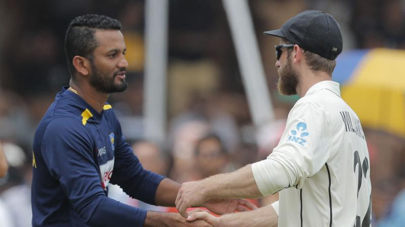 New Zealand captain Kane Williamson praised Sri Lanka skipper Dimuth Karunaratne's brilliant match-winning ton saying that it was a 'fantastic hundred'. (Photo: AP)