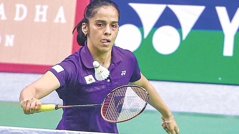 Wang stretched Saina in the second game which the Indian won 23-21. There was no fightback from the Indian in the decider as Wang won eight consecutive points to win it easily. (Photo: PTI)