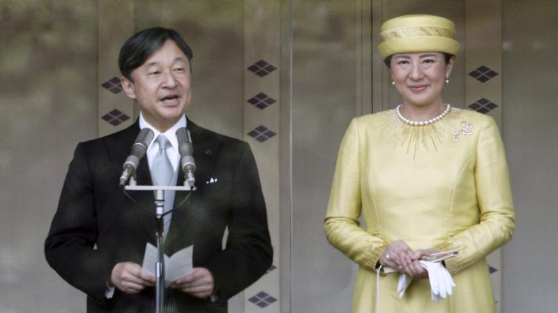 Pledging to work as a symbol of the people, Naruhito, 59, was formally invested as emperor the day after. (Photo:AP)
