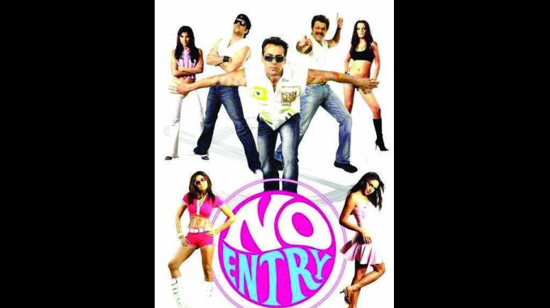 In the 2005 No Entry, Salman Khan, Anil Kapoor, Fardeen Khan along with Lara Dutta, Esha Deol, and Celina Jaitly played major roles with Bipasha Basu in the supporting role.