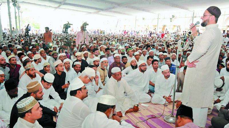 All India Majlis Ittehadul Muslimeen President, Asaduddin Owaisi, sees himself in the role of the leader of Indian Muslims.