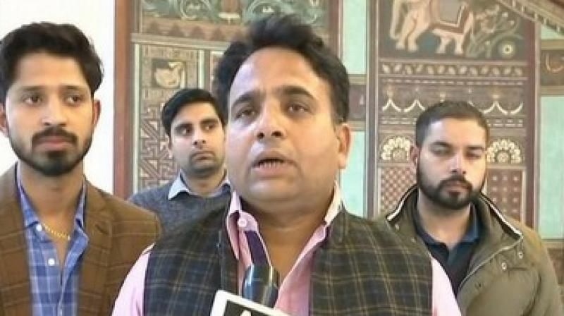 MLA Sanjay Sharma, who represents Anupshahr Assembly constituency in Bulandshahr, also said only the people have the power to remove a chief minister elected with huge mandate. (Photo: ANI)