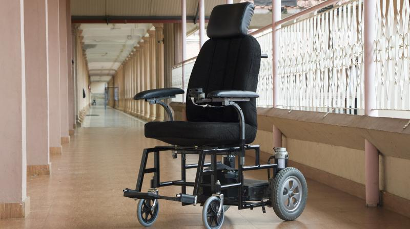 The user can touch any point on the generated map, and the wheelchair will drive to that place automatically without user intervention, navigating its own path and avoiding obstacles