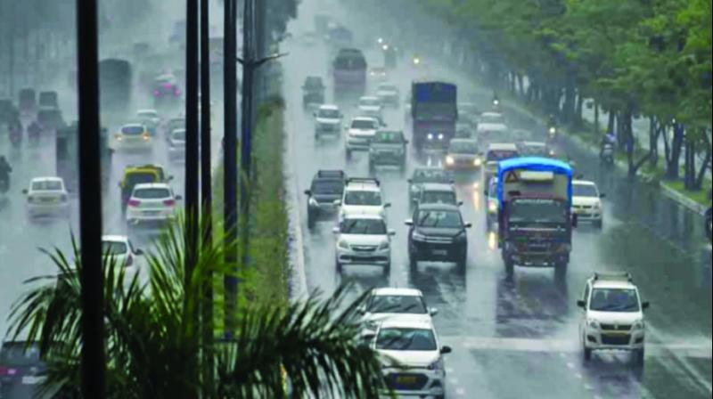 The national capital yet once again witnessed rain during wintertime.