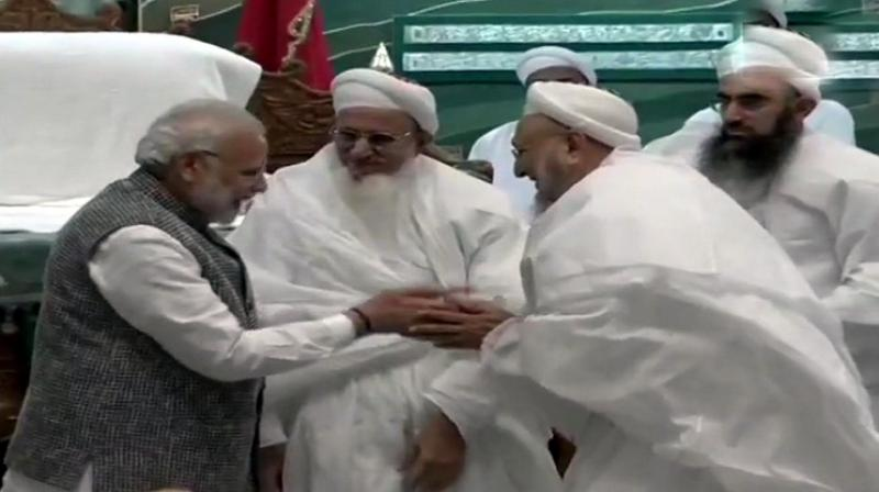 Prime Minister Narendra Modi was speaking at a function held at the Saifee Mosque. (Photo: Twitter | ANI)