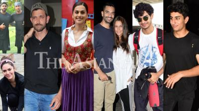 Bollywood celebrities like Hrithik Roshan, Taapsee Pannu, Ranbir Kapoor, Arjun Kapoor, Arjun Rampal, Esha Gupta, Parineeti Chopra, Tabu and others were snapped in the city of dreams, Mumbai. (Photos: Viral Bhayani)