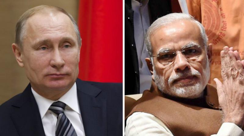 Russian President Vladimir Putin and Prime Minister Narendra Modi. (Photo: PTI)