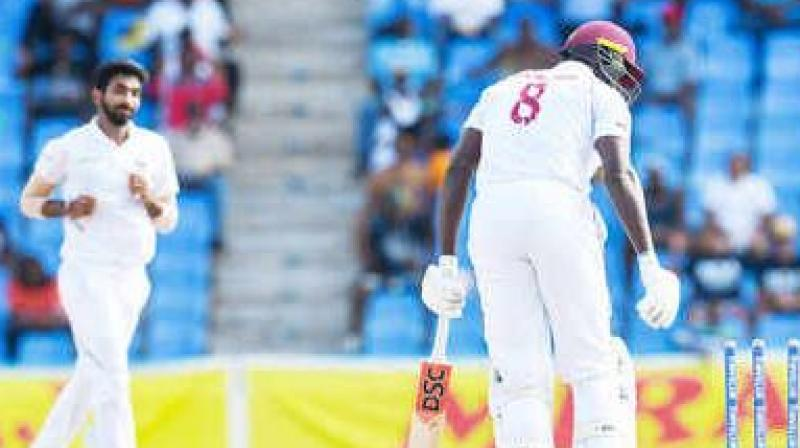 After losing the two-match Test series against India, Windies skipper Jason Holder said his team was outplayed by the Indian team and credited the Virat Kohli-led side for playing a good brand of cricket. (Photo:AFP)