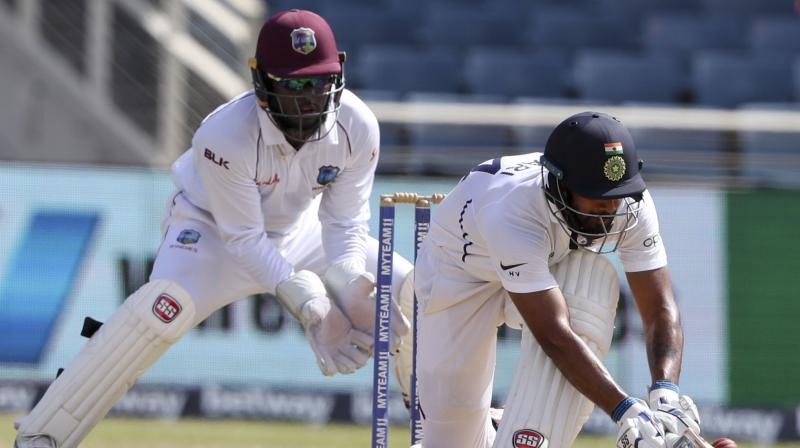 Hanuma Vihari has played all his six Test matches outside India and is now eagerly looking forward to the series against South Africa next month. Vihari emerged as India's top run-getter against the West Indies in the two-Test series with 289 runs. (Photo:AP)